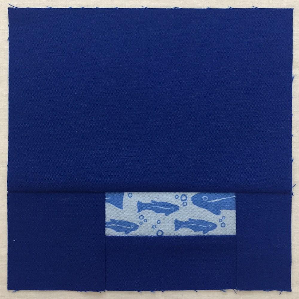 quilt block in blue