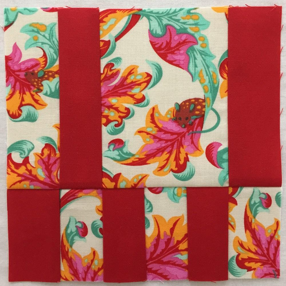 quilt block in red