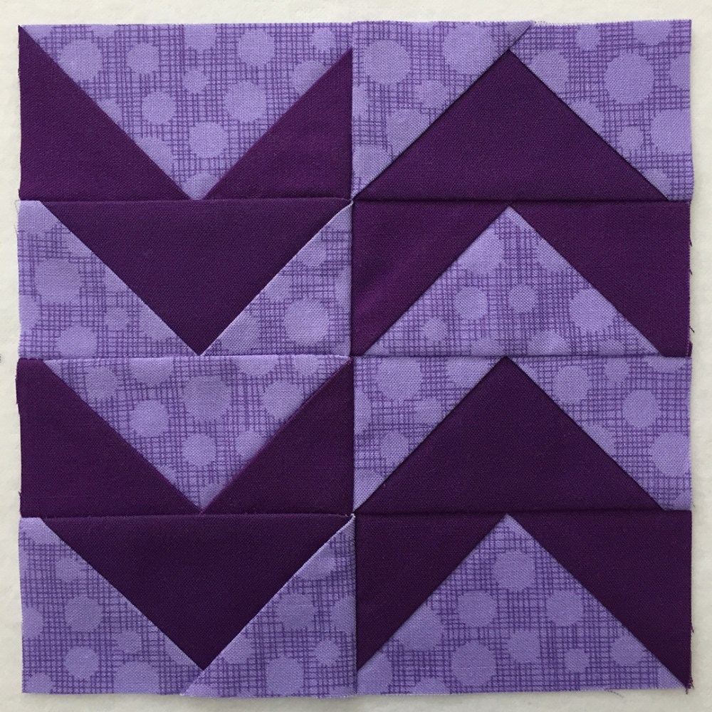 quilt block in purple