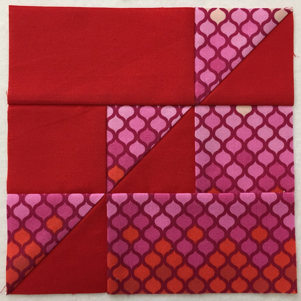 quilt block in red