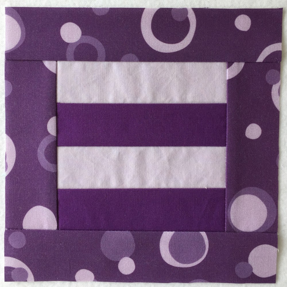 quilt block in purple