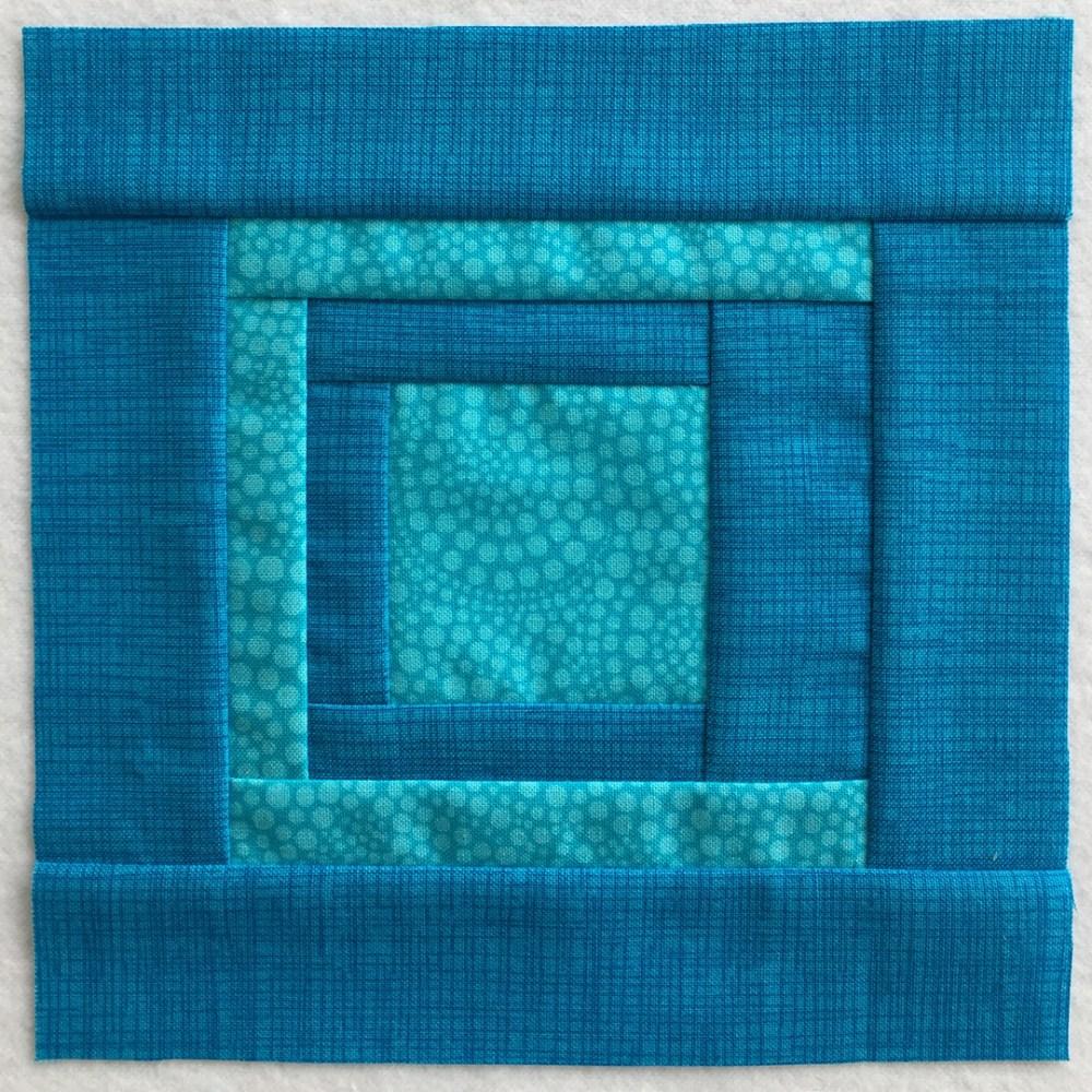quilt block in aqua