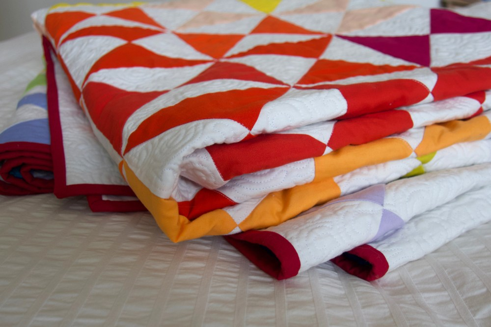 Photo of folded quilt