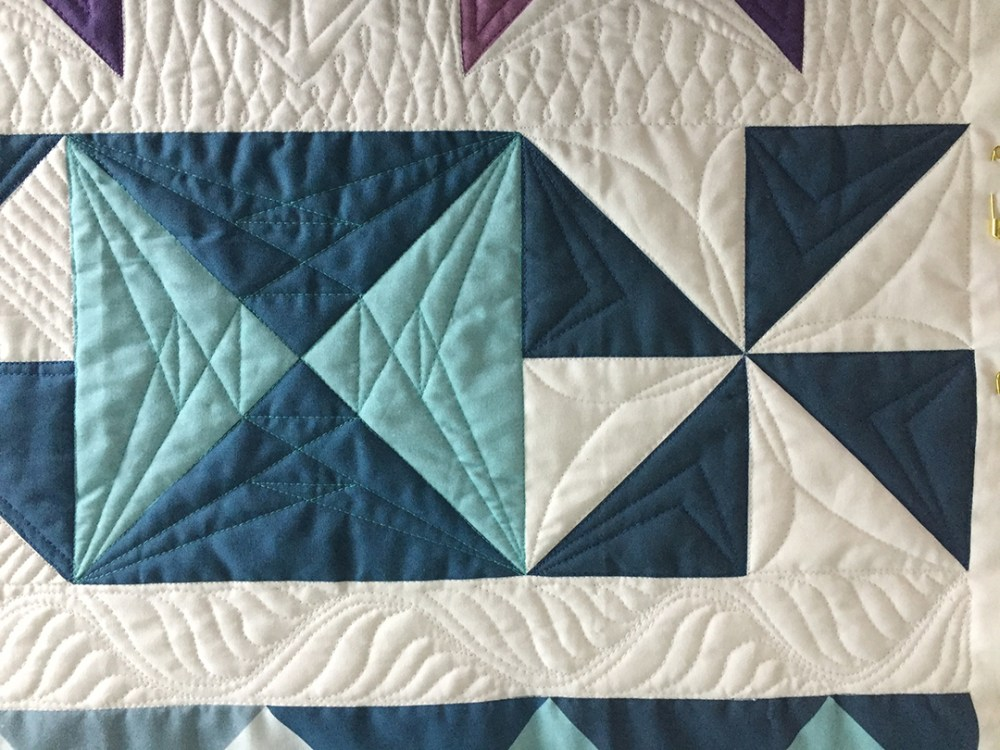 two quilted blocks