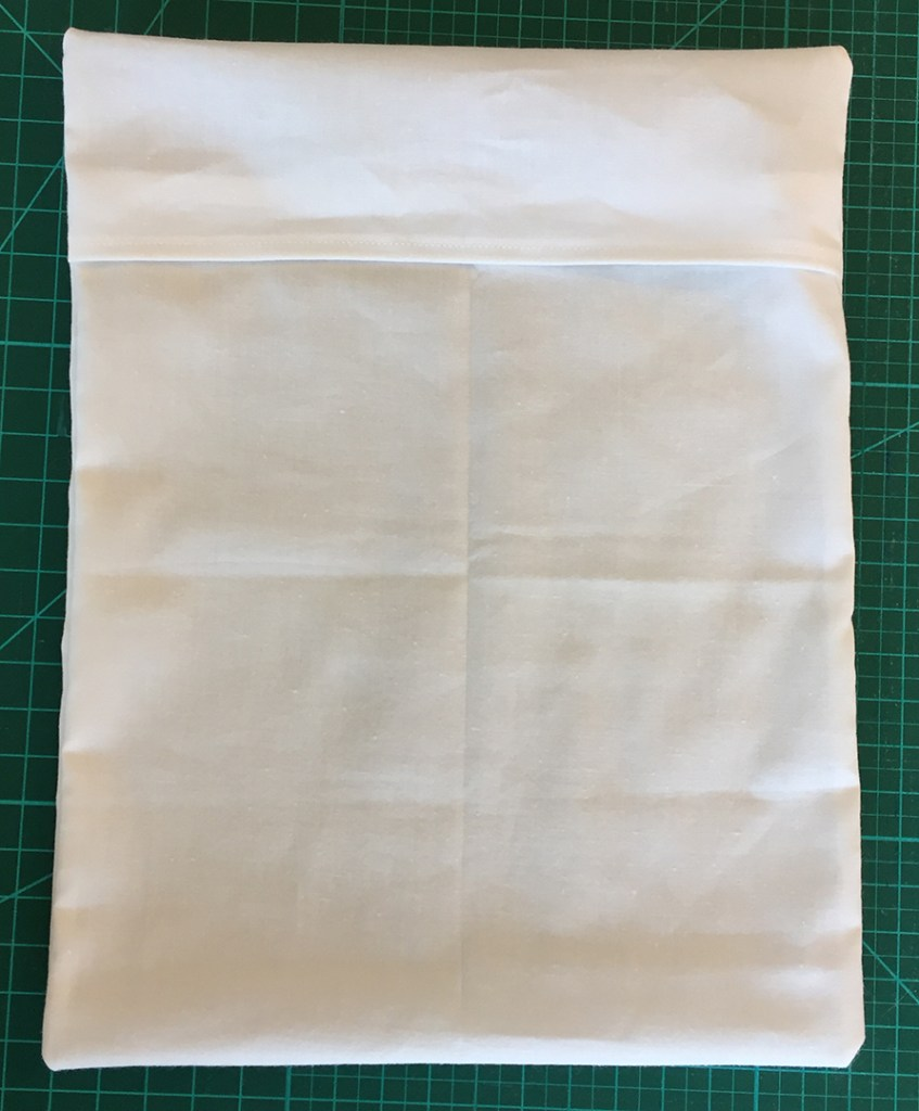 the finished fabric sleeve, seen from the back
