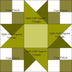 Key Lime Pie Quilt Block