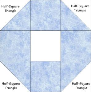 Snowball Variation Quilt Block