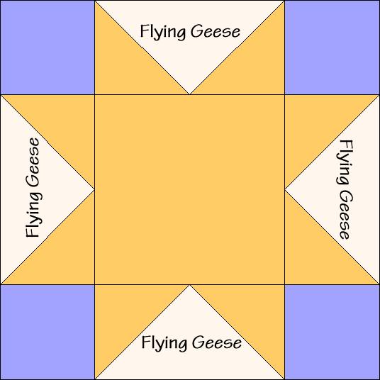Sawtooth Star Quilt Block Diagram