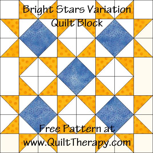 Bright Stars Variation Quilt Block