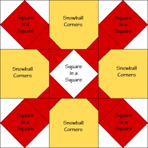 Goblet Four Quilt Block