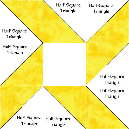 Eccentric Star Quilt Block Diagram