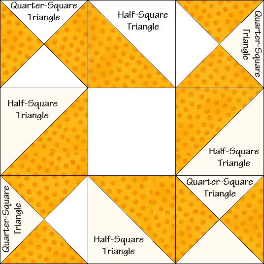 Eccentric Star Variation Quilt Block Diagram