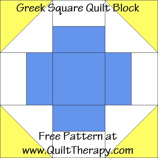 Greek Square Quilt Block