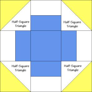 Greek Square Quilt Block Diagram