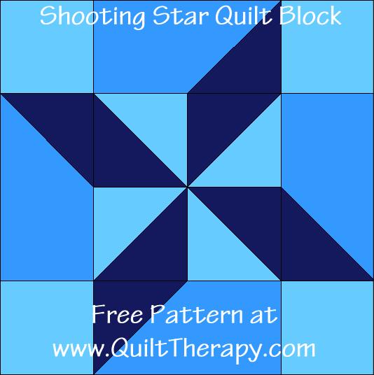Shooting Star Quilt Block