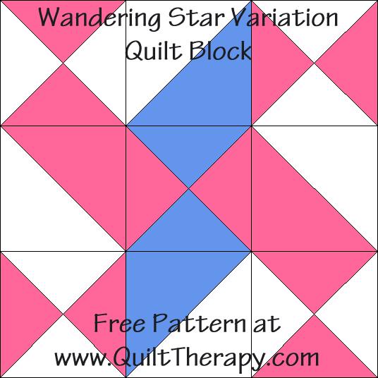 Wandering Star Variation Quilt Block