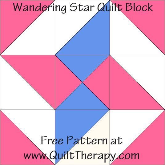 Wandering Star Quilt Block