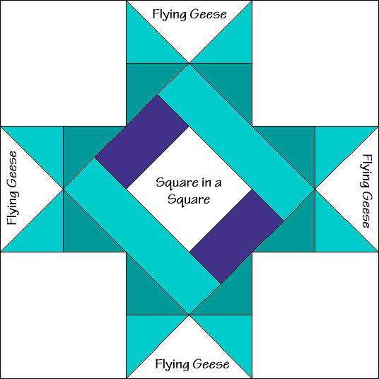 Braced Star Variation Quilt Block Diagram Free Pattern at QuiltTherapy.com!
