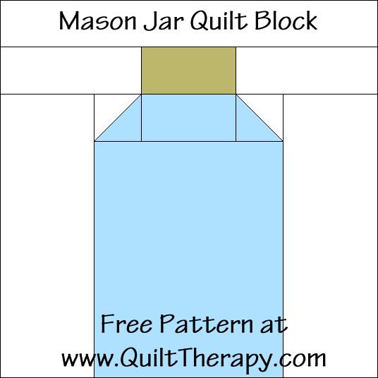Mason Jar Quilt Block Free Pattern at QuiltTherapy.com!