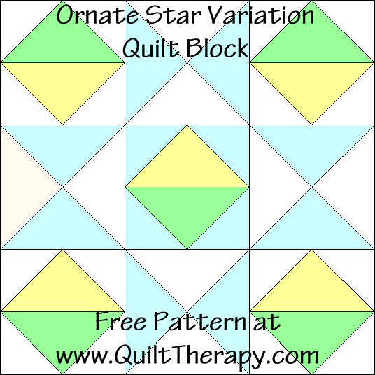 Ornate Star Variation Quilt Block