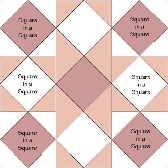Crystal Star Variation Quilt Block Diagram Free Pattern at QuiltTherapy.com!