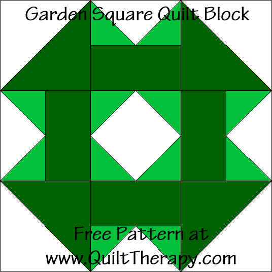 Garden Square Quilt Block Free Pattern at QuiltTherapy.com!