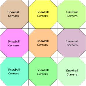 Ozark Cobblestones Quilt Block Diagram Free Pattern at QuiltTherapy.com!