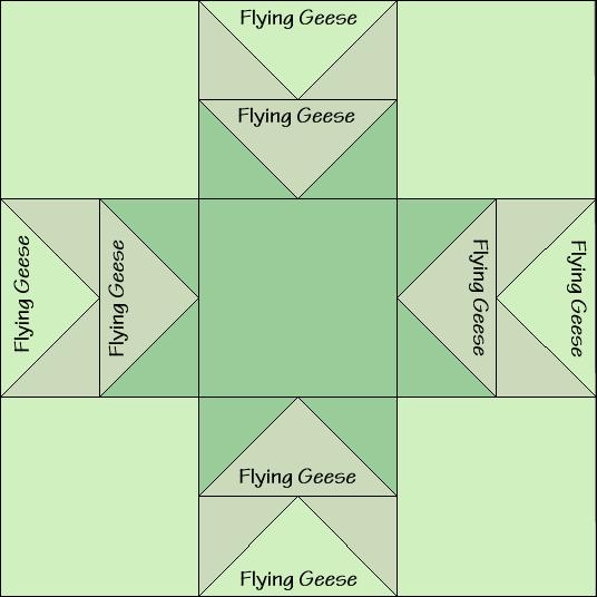 Star of Wonder Variation Quilt Block Diagram Free Pattern at QuiltTherapy.com!