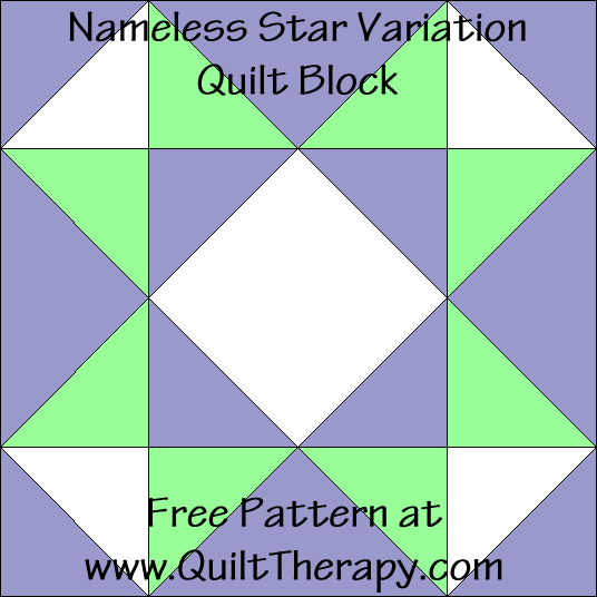 Nameless Star Variation Quilt Block Free Pattern at QuiltTherapy.com!