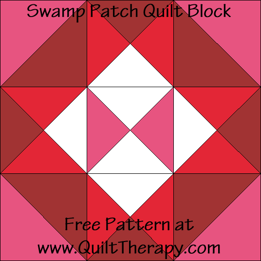 Swamp Patch Quilt Block Free Pattern at QuiltTherapy.com!