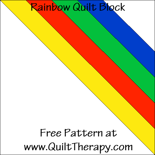 Rainbow Quilt Block Free Pattern at QuiltTherapy.com!