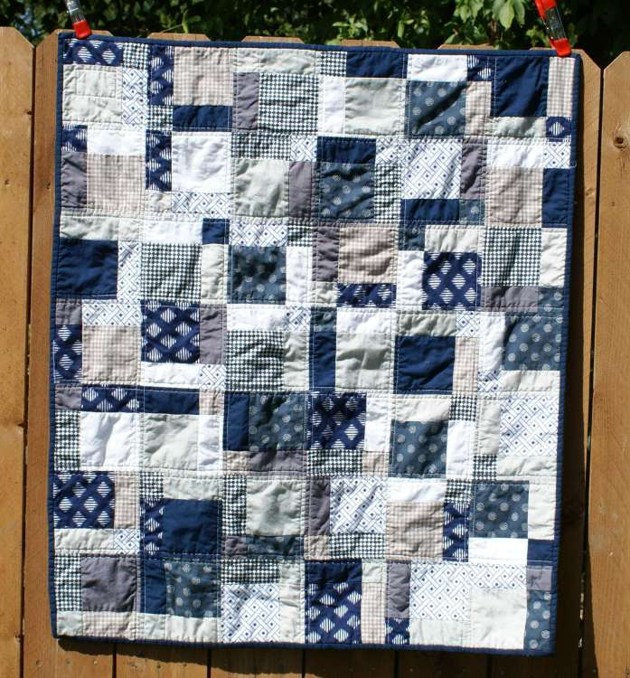 neutral boys quilt