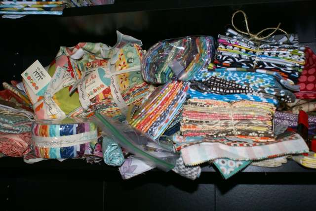 jelly rolls, fat quarter bundles, and a variety of other goodies.
