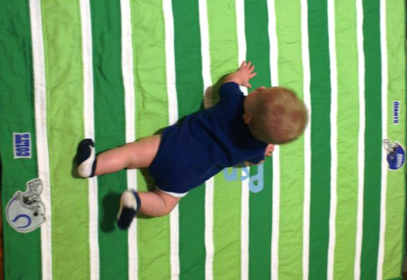 quilted football playmat