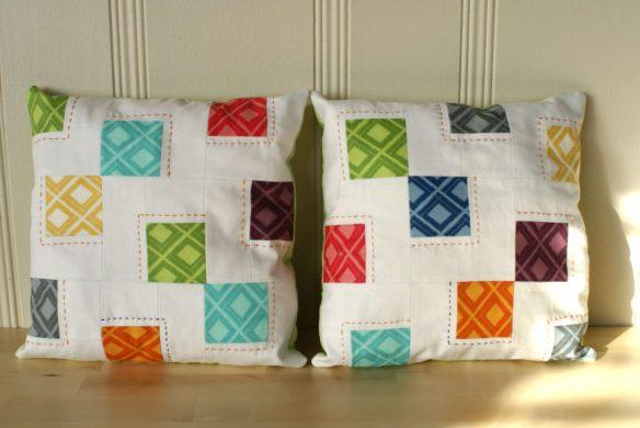 mosaic tiles pillow