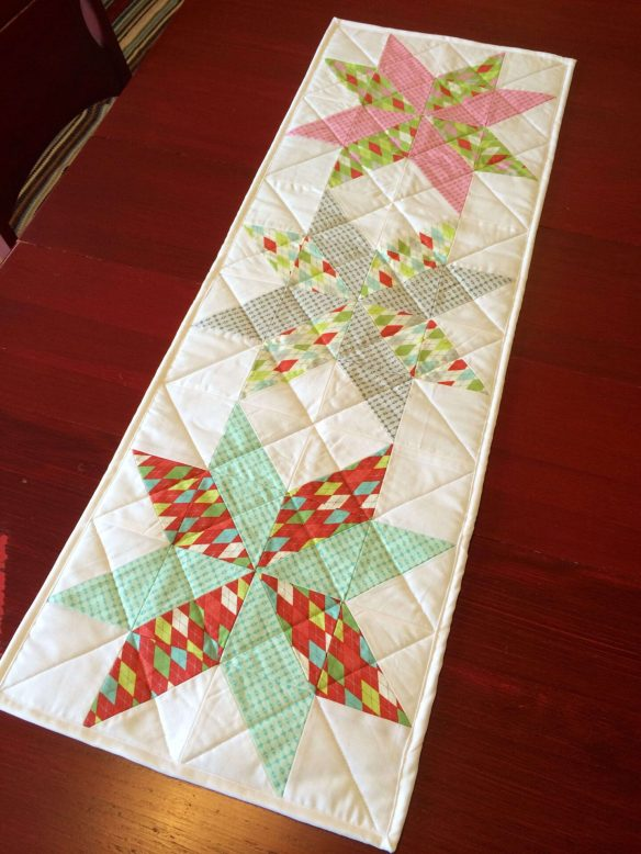 christmas table runner tutorial