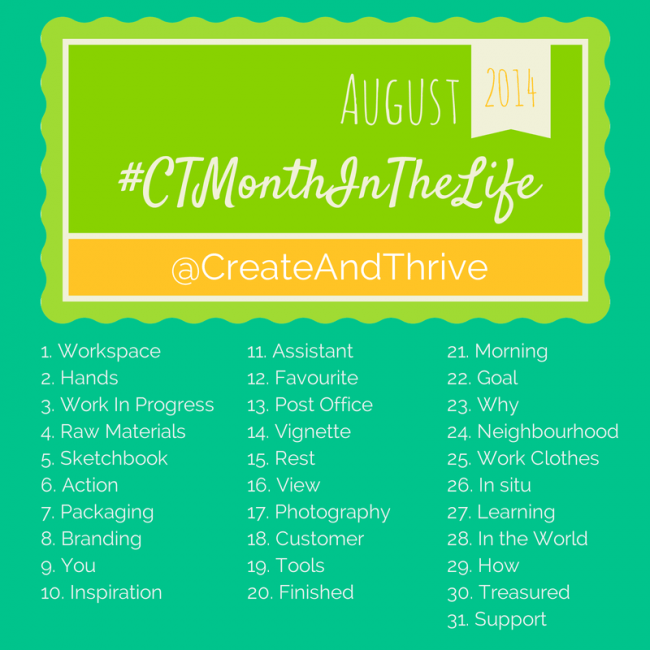 Create & Thrive Photo a Day Challenge
