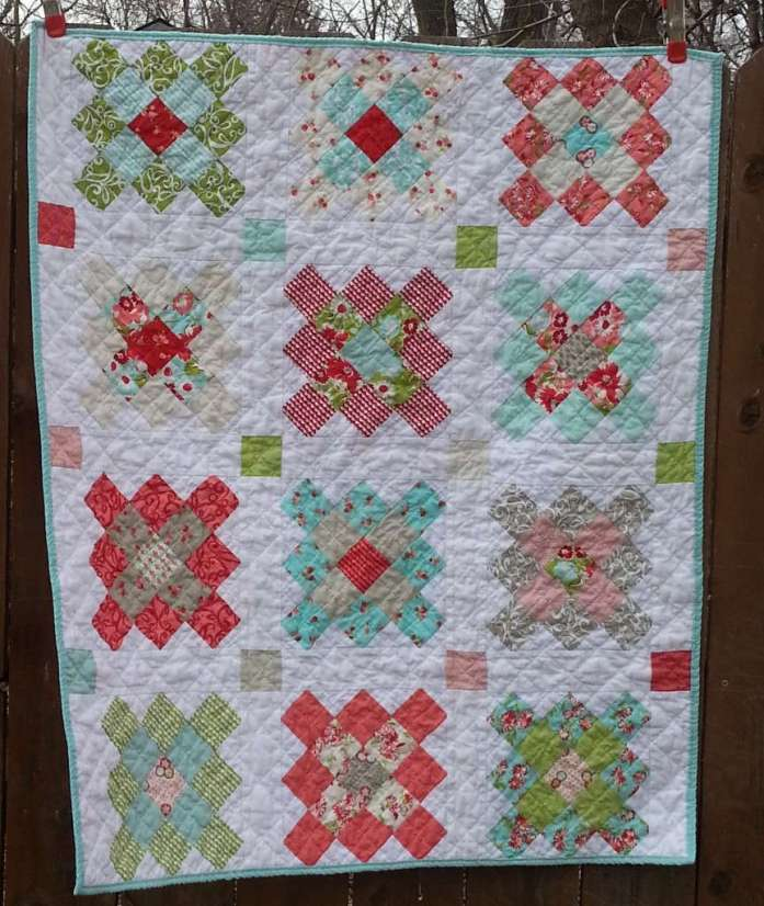 ruby granny squares quilt