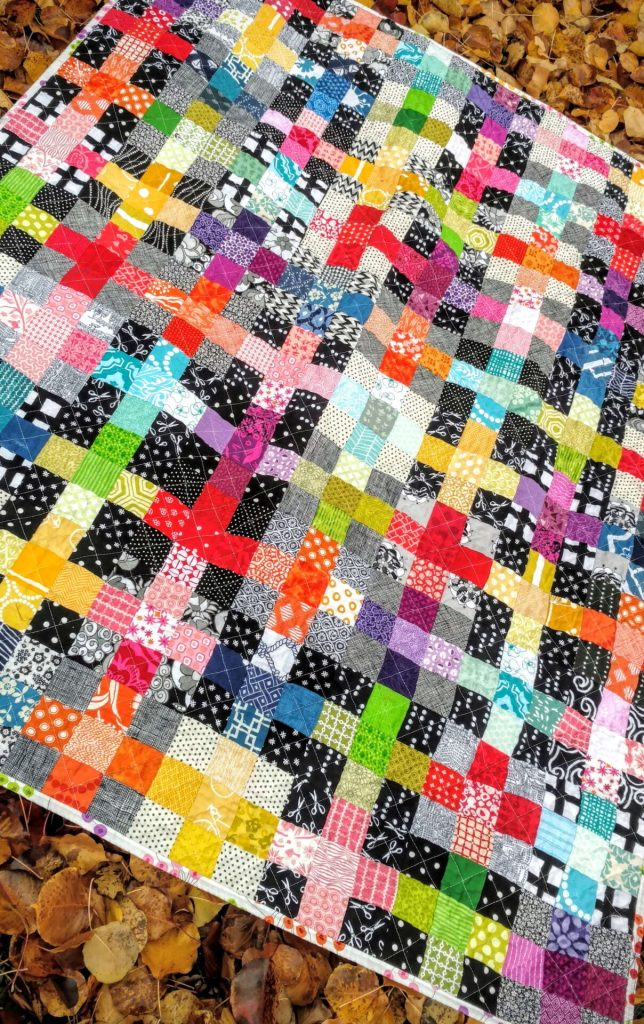 rainbow scrappy charming plus quilt (2)