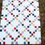Scrappy Irish Chain Baby Quilt Finished