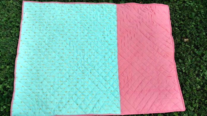 baby girl bridesmaids dress quilt (1)