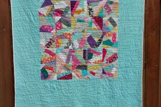 Scrappy unicorn rainbow sprinkles by quiltytherapy #scrapquilt #paperpiecing #modernquilt