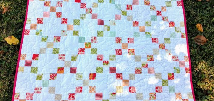 marmalade fabric, baby girl quilt, modern baby quilt, improv pieced quilt, twin quilt idea