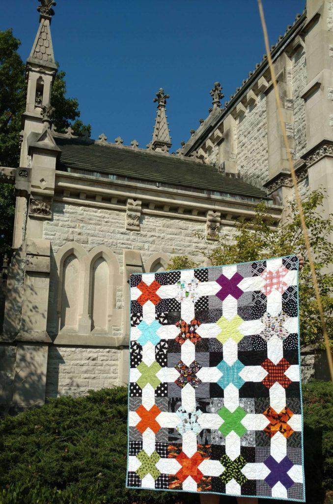 halloween quilt, tic tac toe block, blossom heart quilts blocks, modern quilt, bee quilt, bee blocks, halloween, spooky