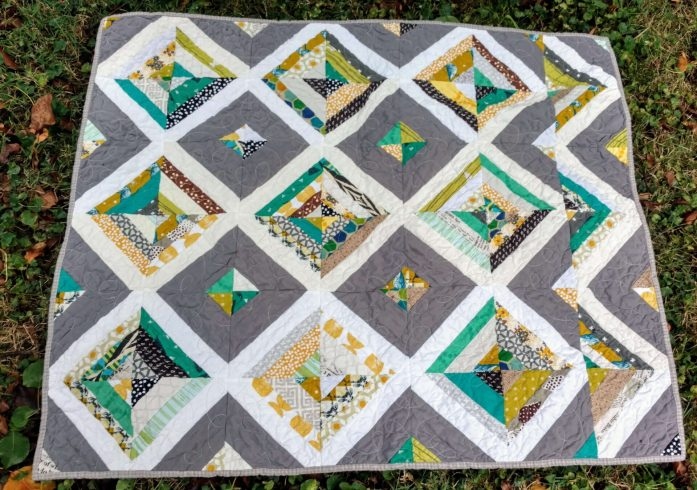 woodland strings baby quilt, baby quilt, string quilt, scrap quilt, gender neutral baby quilt, woodland animals nursery decor, nursery decor