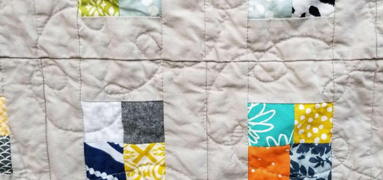 scrap quilt, scrappy checkerboard, postage stamp quilt, quiltytherapy