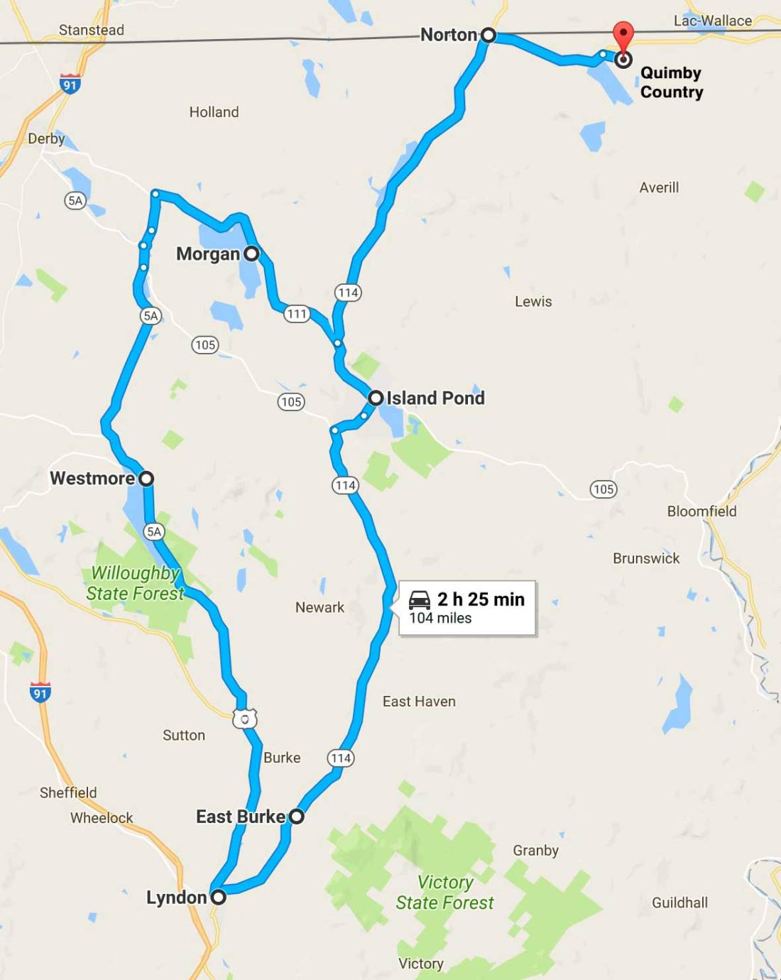 Vermont Fall Foliage Routes and Tours in Northeast Kingdom
