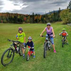 Mountain Biking at Quimby's in Vermont