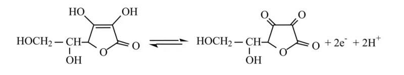 Reacción ácido ascórbico