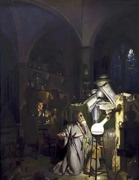 Hennig Brand retratado en la obra de Joseph Wright of Derby, El alquimista descubriendo el fosforo